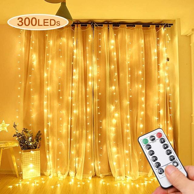 Opard  Bedroom Fairy Light Curtain 1