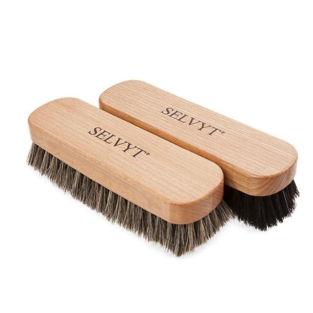 Selvyt Premium Horsehair Shoe Brush 1