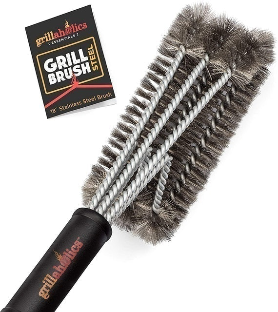 Grillaholics BBQ Grill Brush Steel 1