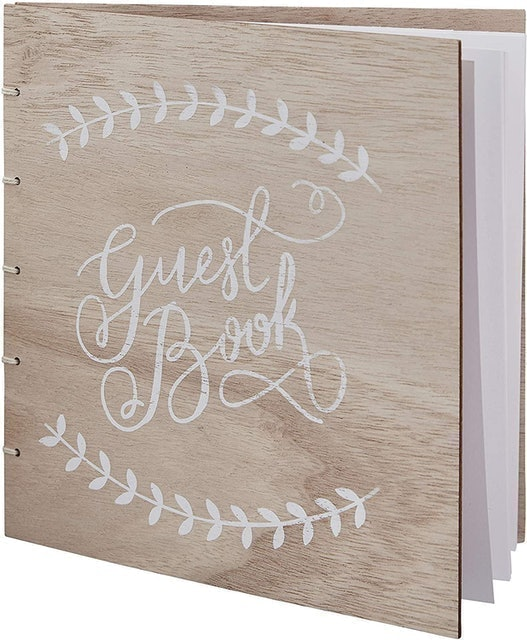 Ginger Ray  Wooden Wedding Guest Book 1