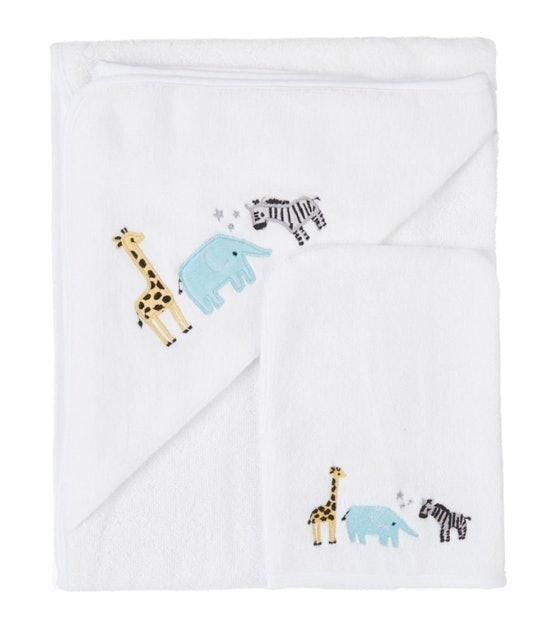 John Lewis & Partners  Safari Hooded Towel and Mitt 1