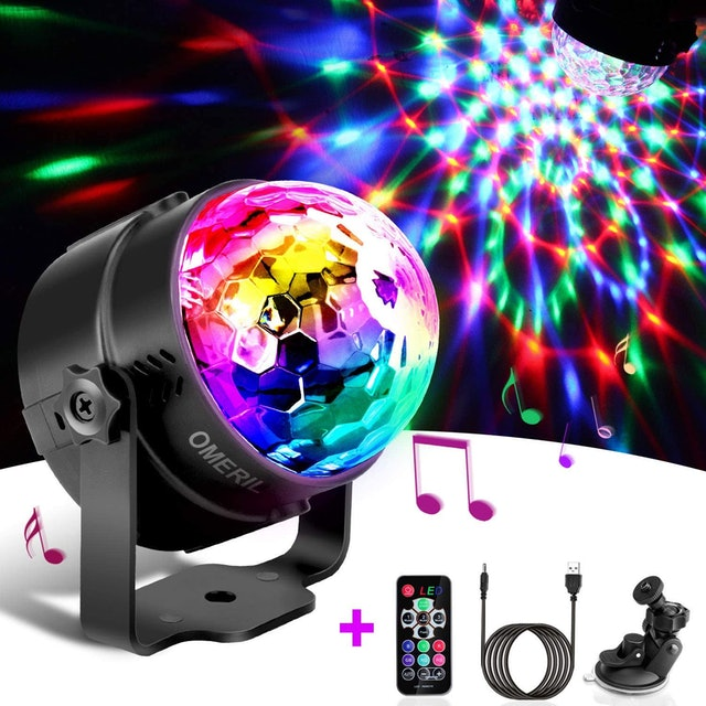 Omeril  Sound Activated Colour Variable Disco Ball Light 1