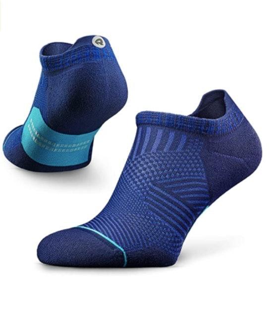 More Mile San Diego Running Sock Cushioned Ankle Sock Mens Womens Trainer Socks