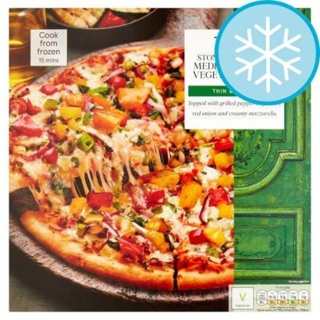 Tesco  Stonebaked Mediterranean Vegetable Pizza 1