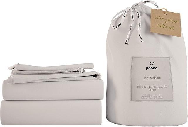 Panda 100% Bamboo Bedding Set - Pure White 1