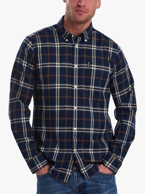 Flannel Shirts Barbour Highland Check Stripe 35 Tailored Shirt 1