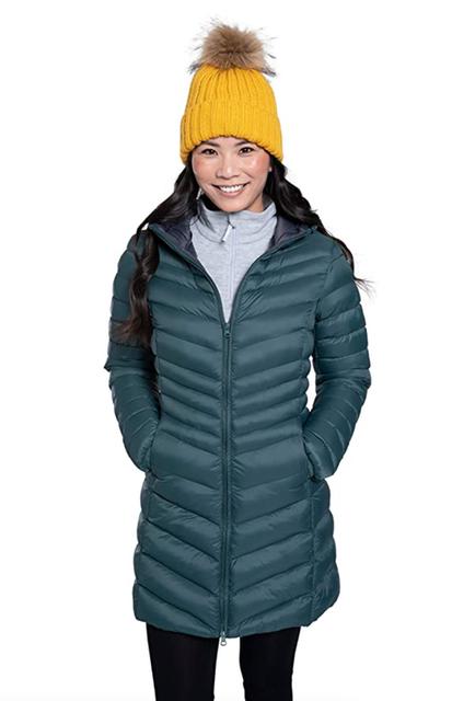 Mountain Warehouse Florence Winter Long Padded Water Resistant Rain Coat 1