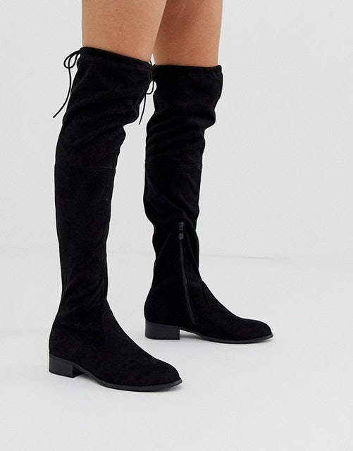 Public Desire Elle Flat Over the Knee Boots 1