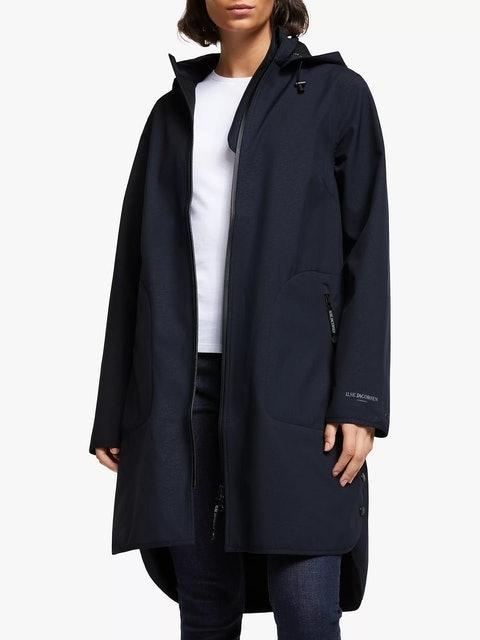 Ilse Jacobsen Hornbæk 3/4 Length Detachable Hood Raincoat 1