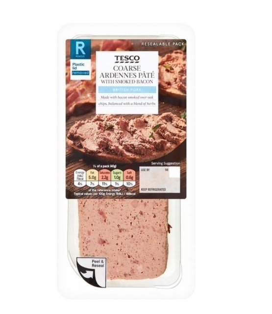 Tesco Ardennes & Smoked Coarse Bacon Pâté 1