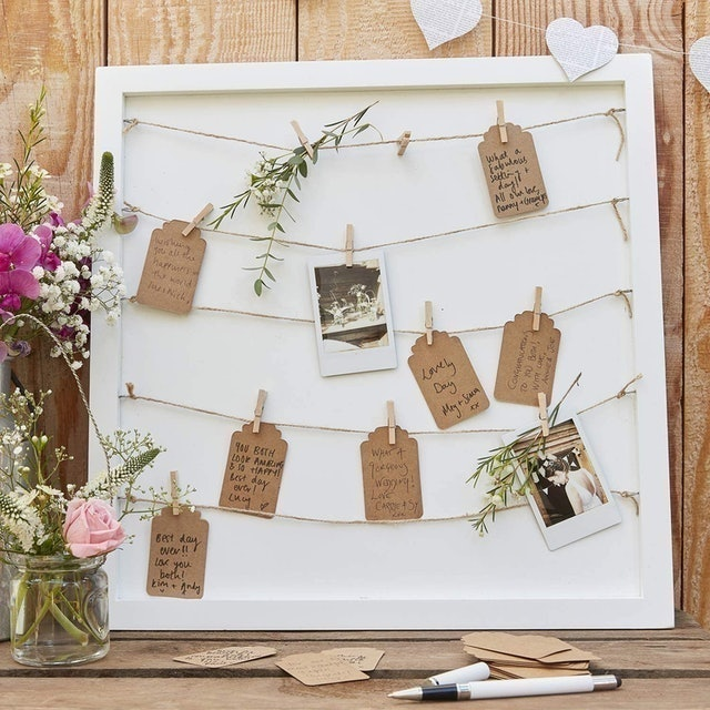 Ginger Ray Peg and String Alternative Wedding Guest Book 1