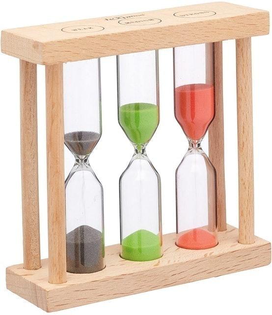 KitchenCraft Wooden Hourglass  1