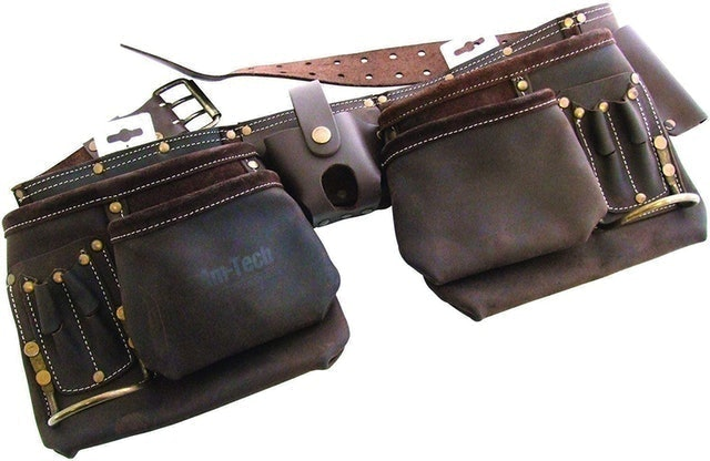 Am-Tech Tooltime® Professional Leather Tool Belt 1
