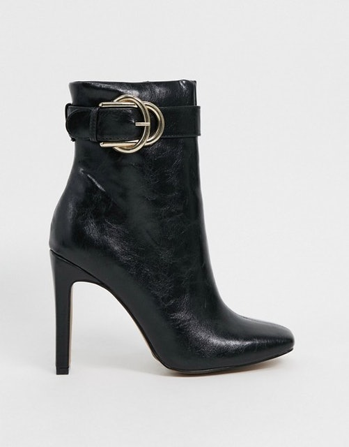 ASOS Design Envy High Ankle Buckle Boots 1