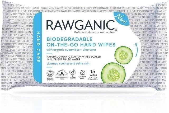 RAWGANIC On-the-Go Hand Wipes 1