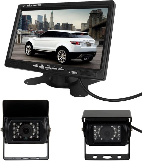 """Pathson Car Rear View Kit With 7"""" Monitor 1"""