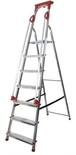 Abbey Ladders Aluminium Platform Step Ladder - 7 Tread 1