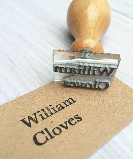 StompStamps Personalised Small Name Stamp 1