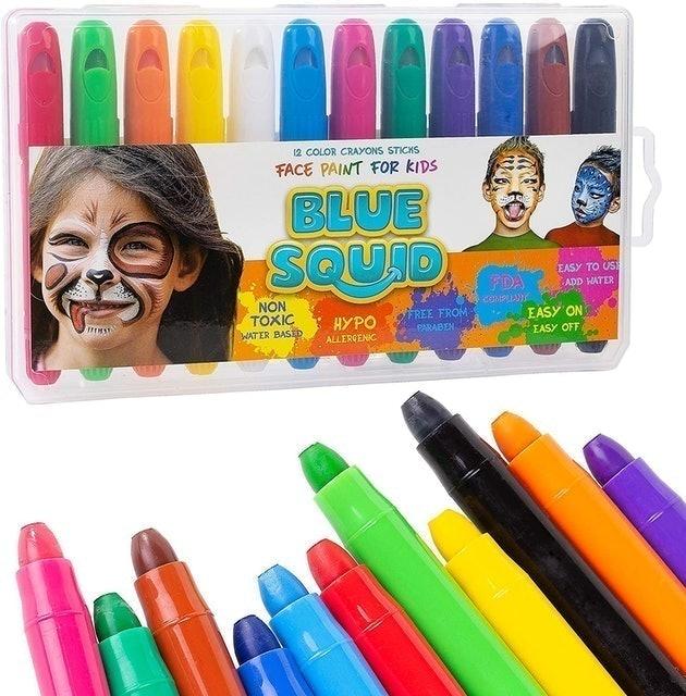 Blue Squid Face Paint Pens for Kids 1