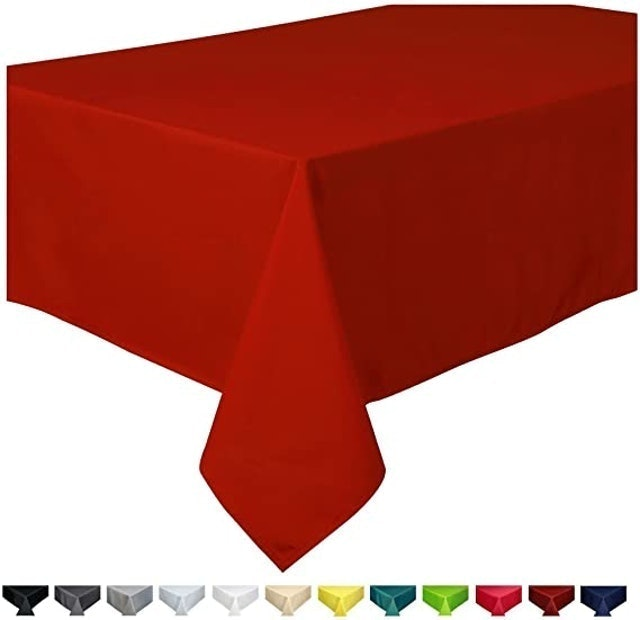 Home Direct Extra Large Rectangular Fabric Tablecloth 1
