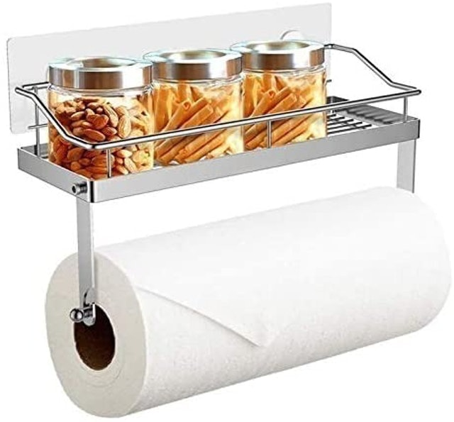 ZB Zealboom Kitchen Roll Dispenser With Spice Rack  1