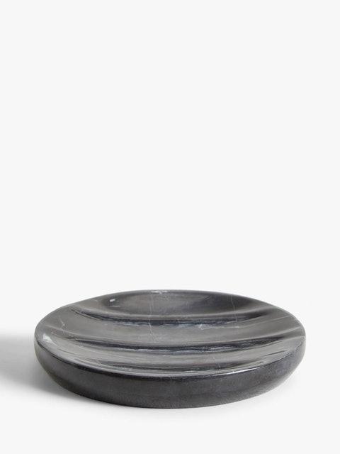 John Lewis & Partners  Black Marble Soap Dish 1