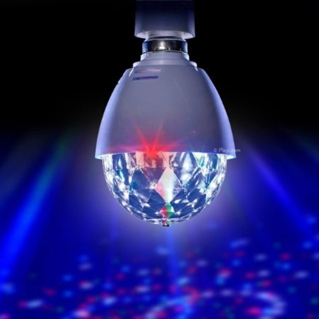 Playlearn  LED Full Color Crystal Auto Rotating Disco Light 1