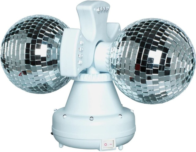 Rotating Twin Rotating Double Disco Ball Lamp 1