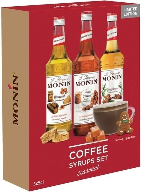 Monin Seasonal Coffee Syrups Gift Set  1