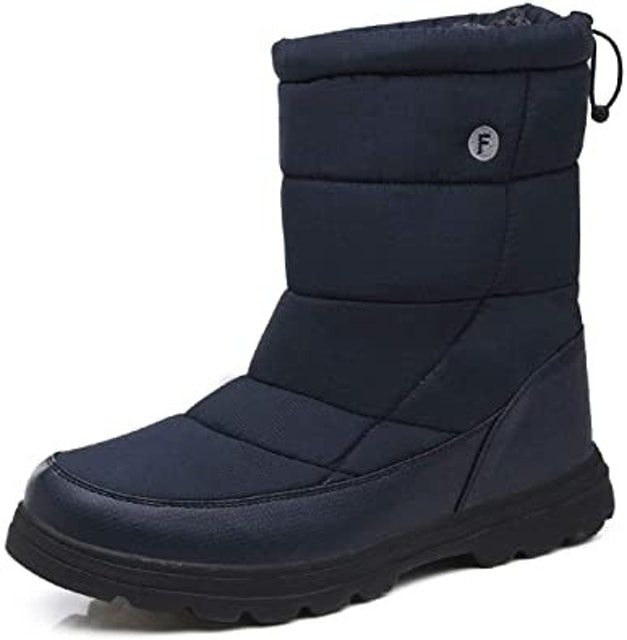 gracosy Winter Warm Snow Boots - Navy 1