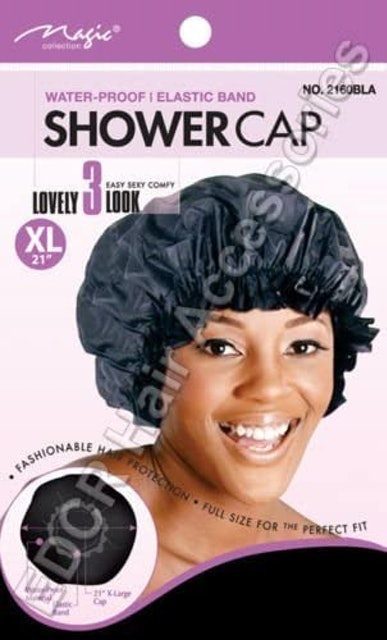 Magic Collection Waterproof Elastic Band Thick Re-Useable Shower Cap 1