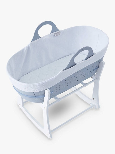 Tommee Tippee Sleepee Baby Moses Basket and Rocking Stand - Grey 1