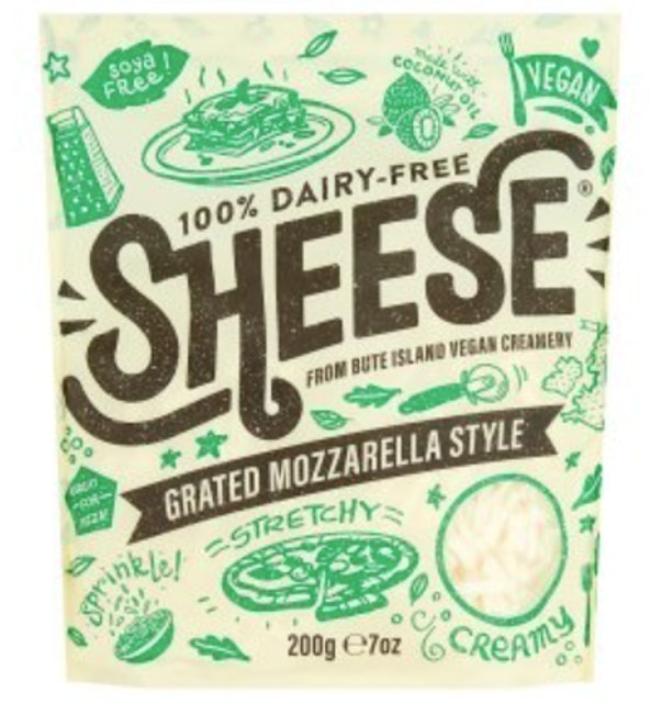 Sheeze Vegan Grated Mozzarella Style 1