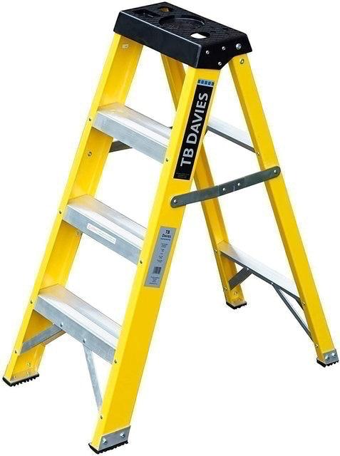 TB Davies Heavy-Duty Fibreglass Swingback Step Ladder 1