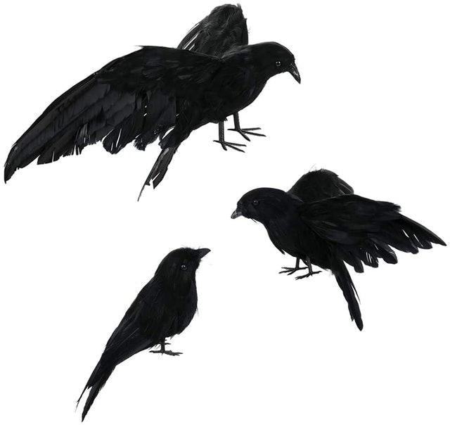 Asdomo Pack of 3  Black Halloween Crows 1