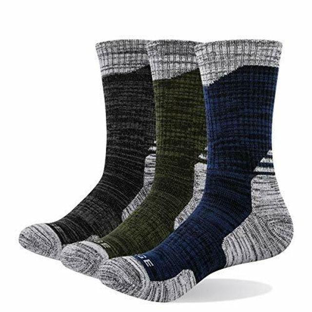 Yuedge Breathable Cushion Anti Blister Crew Socks  1