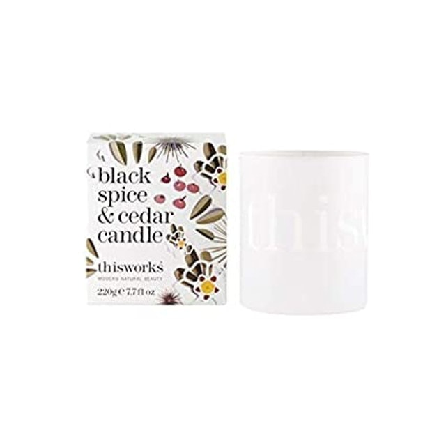 This Works Limited Edition Black Spice & Cedar Scented Candle 1