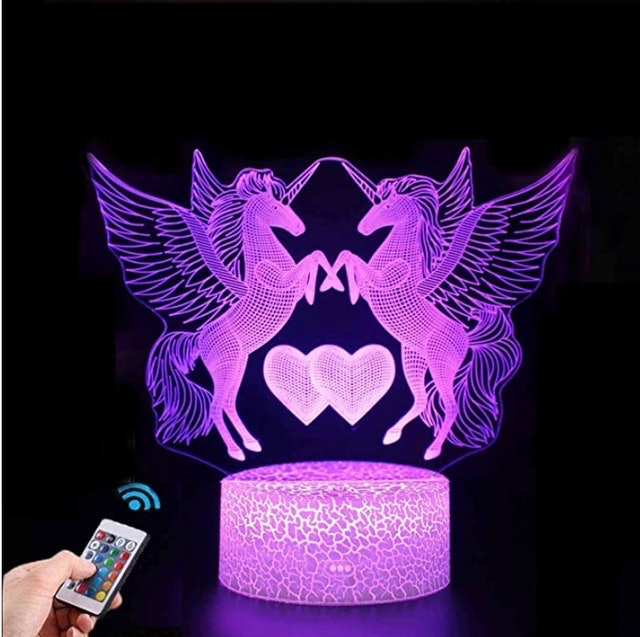 Nice Dream Unicorn 16 colour 3D Night Light  1