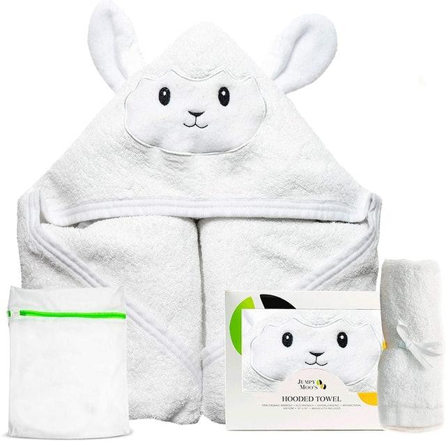 Jumpy Moo's Organic Bamboo Hooded Baby Towel  1