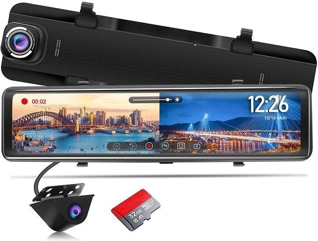 PORMIDO Mirror Reversing Camera Dash Cam  1