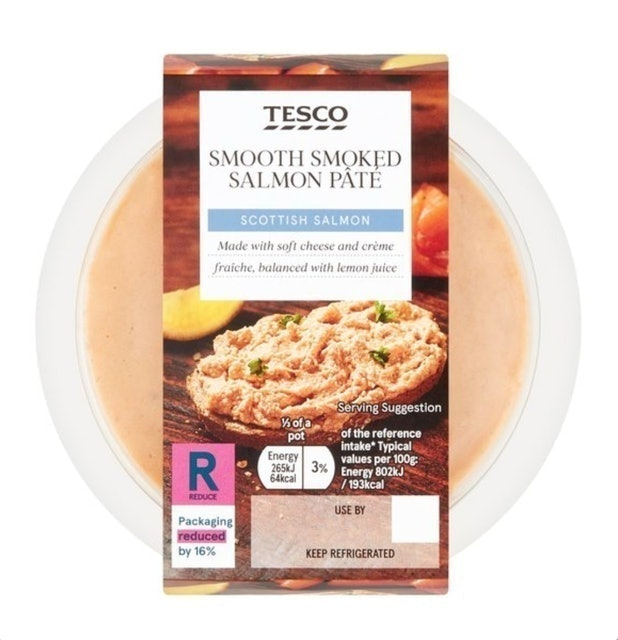 Tesco Smooth Smoked Scottish Salmon Pâté 1