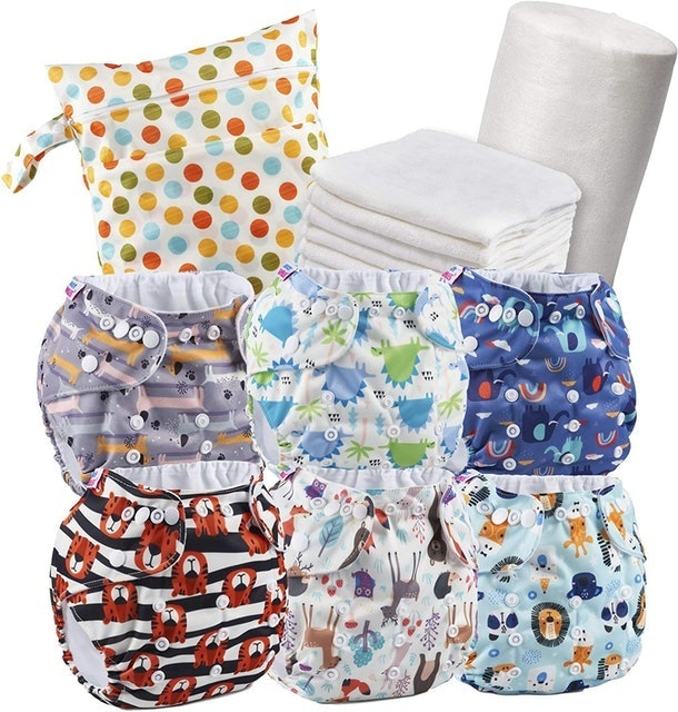 Juicy Bumbles Coloured Reusable Nappy Kit With Bamboo Inserts 1