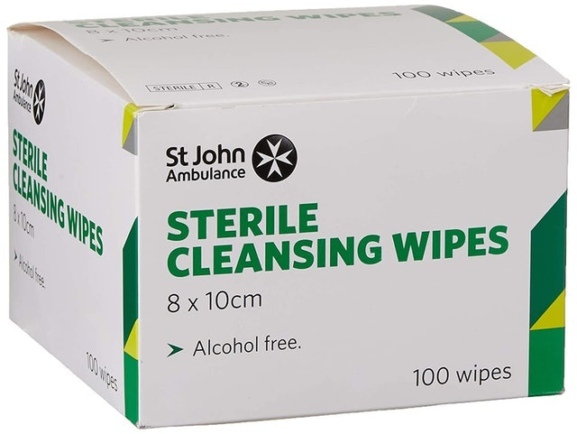 St John Ambulance Alcohol-Free Sterile Cleansing Wipes 1