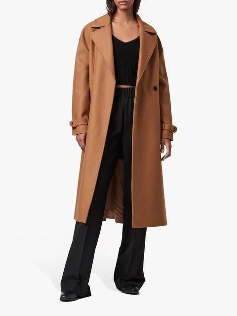 AllSaints Wilma Wool Blend Coat 1