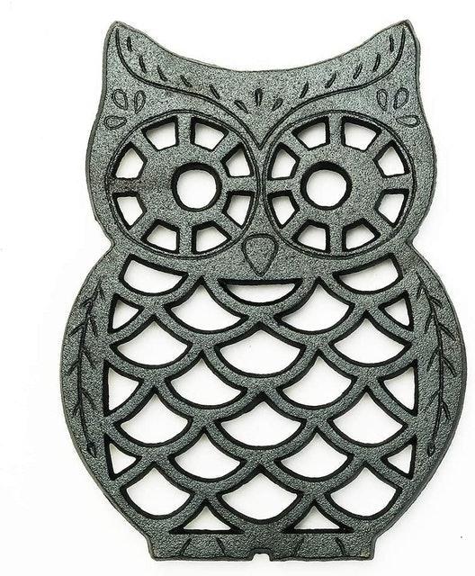 Sungmor Owl Shaped Cast Iron Trivet 1