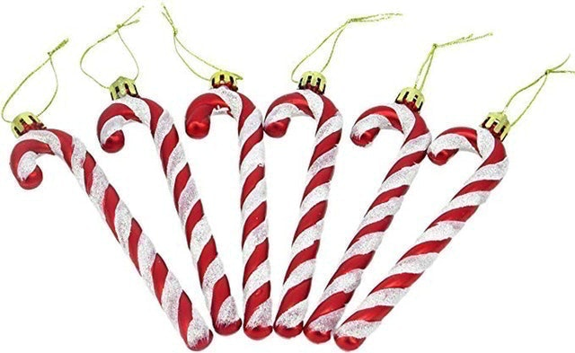 Christmas Concepts Glitter Candy Cane Christmas Tree Decorations 1