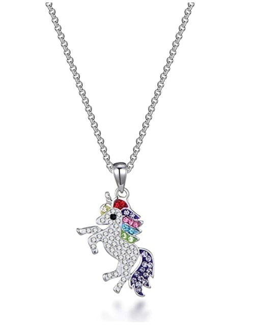Philip Jones Crystal Unicorn Necklace 1