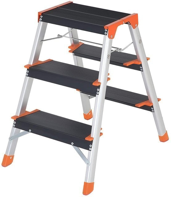 SONGMICS 3 Step Ladder With A-Shape Frame 1
