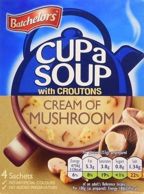 Batchelors Cup a Soup with Croutons Cream of Mushroom 1