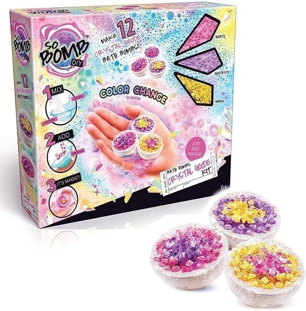 So Bomb DIY Mini's 12 Pack Crystal Geode Bath Bomb Kit  1